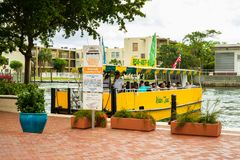 Las Olas Boulevard Riverwalk royalty free stock image