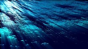 Las olas oceánicas subacuáticas con efectos luminosos - riegue FX0310 HD ilustración del vector