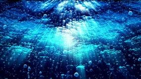Las olas oceánicas subacuáticas ondulan mientras que suben las burbujas - riegue FX0326 HD libre illustration