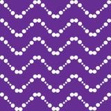 Las ondas blancas zigzaguean las bolas en un fondo púrpura stock de ilustración