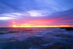 Las ondas del azul Fotografía de archivo libre de regalías