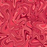 Las ondas pintadas acrílico de mármol rojo de la textura de la tinta texturizan el fondo Fotografía de archivo