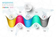 Las opciones del paso del negocio y el infographics abstracto numeran la plantilla de las opciones stock de ilustración