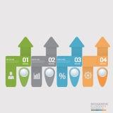 Las opciones espirales modernas del infographics se pueden utilizar para el diagrama del flujo de trabajo, opciones del número, d Libre Illustration