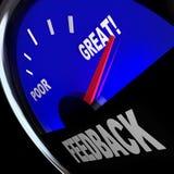 Las opiniones del cliente del indicador de la gasolina de la reacción revisan comentarios ilustración del vector