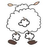 Las ovejas blancas mueven hacia atrás. Foto de archivo