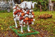 Las ovejas esculpen con la decoración hermosa Imagen de archivo