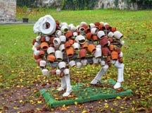Las ovejas esculpen con la decoración hermosa Fotografía de archivo