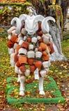 Las ovejas esculpen con la decoración hermosa Foto de archivo libre de regalías