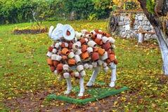 Las ovejas esculpen con la decoración hermosa Fotografía de archivo libre de regalías