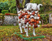 Las ovejas esculpen con la decoración hermosa Imagenes de archivo