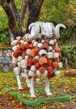 Las ovejas esculpen con la decoración hermosa Foto de archivo