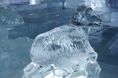 Las ovejas esculpen hecho por el hielo Imagen de archivo