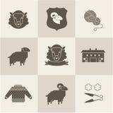 Las ovejas vector el sistema Fotografía de archivo