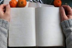 Las páginas abrieron el libro del vintage en encimera de mármol verde Imagen de archivo libre de regalías