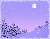 las płatków śniegu ramowej zima ilustracja wektor