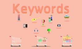Las palabras claves buscan en todo el mundo cualquier cosa el ejemplo eps10 del vector libre illustration