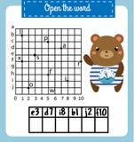 Las palabras desconciertan el juego educativo de los niños con rejilla coordinada Ponga las letras en orden correcta Aprendizaje  ilustración del vector