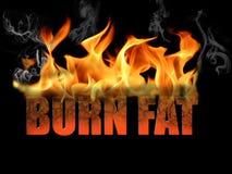 Las palabras queman la grasa Imagen de archivo libre de regalías