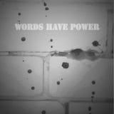 Las palabras tienen poder Fotos de archivo
