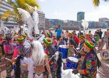 Las Palmas de Gran Canaria Beach carnival 2015 parade on the Las Stock Photos