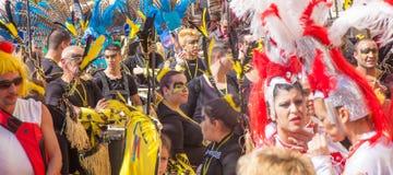 Las Palmas de Gran Canaria Beach carnival 2015 parade on the Las Stock Image