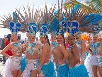 Las Palmas de Gran Canaria Beach carnival 2015 parade on the Las Royalty Free Stock Photo