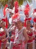 Las Palmas de Gran Canaria Beach carnival 2015 parade on the Las Royalty Free Stock Photography