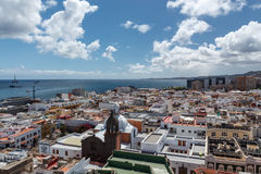 Las Palmas de Gran Canaria. The Canary Islands. Panorama of the city of Las Palmas de Gran Canaria. The Canary Islands. Spain royalty free stock photography