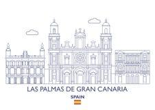 Las Palmas De Gran Canaria City Skyline, Spain Stock Photo