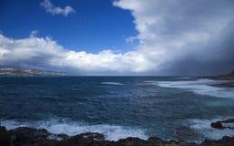 Las Palmas de Gran Canaria, El Confital beach Royalty Free Stock Photo