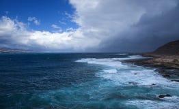 Las Palmas de Gran Canaria, El Confital beach Stock Photography
