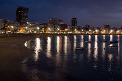 Las Palmas de Gran Canaria at night Stock Images