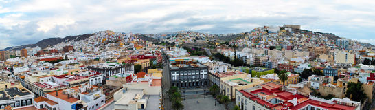 Las Palmas de Gran Canaria - panorama. Panoramic view over the city - Las Palmas de Gran Canaria, the capital city of Canary Islands, Spain Royalty Free Stock Photography