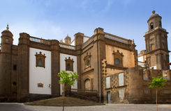 Las Palmas de Gran Canaria Santa Ana domkyrka Arkivfoton