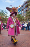 Las Palmas de Gran Canaria strandkarneval 2015 ståtar på Lasen Arkivbilder