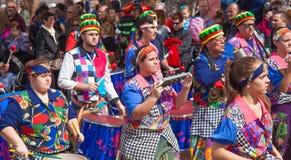 Las Palmas de Gran Canaria strandkarneval 2015 ståtar på Lasen Fotografering för Bildbyråer