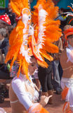 Las Palmas de Gran Canaria strandkarneval 2015 ståtar på Lasen Royaltyfri Fotografi