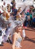 Las Palmas de Gran Canaria strandkarneval 2015 ståtar på Lasen Arkivfoton