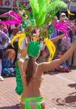 Las Palmas de Gran Canaria strandkarneval 2015 ståtar på Lasen Arkivbild
