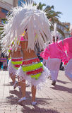Las Palmas de Gran Canaria strandkarneval 2015 ståtar på Lasen Arkivfoto