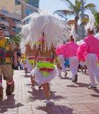 Las Palmas de Gran Canaria strandkarneval 2015 ståtar på Lasen Royaltyfria Bilder