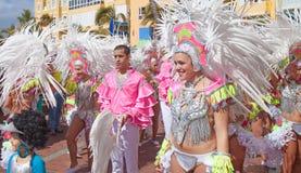 Las Palmas de Gran Canaria strandkarneval 2015 ståtar på Lasen Royaltyfri Foto