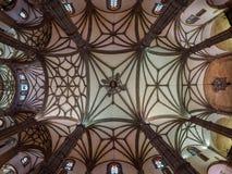 Las Palmas de plafond d'église de Santa Ana image libre de droits