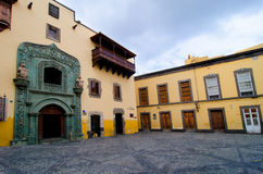 Las Palmas, Gran Canaria, casa de dois pontos Imagens de Stock Royalty Free