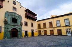 Las Palmas Gran Canaria, Casa de kolon Royaltyfria Bilder