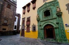 Las Palmas Gran Canaria, Casa de kolon Royaltyfri Bild