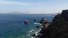 Las Palmas Gran Canaria. Wonderful view to Las Palmas Gran Canaria Stock Image