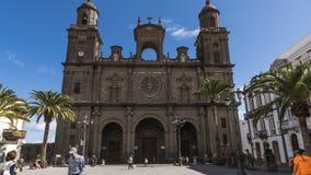 LAS PALMAS, GROTE CANARIA/SPANJE: LAS PALMASkathedraal stock videobeelden