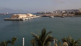 Las Palmas Harbor, Gran Canaria stock video footage